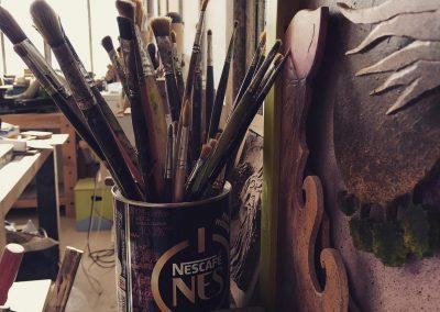 outils et pinceaux marc delaunay